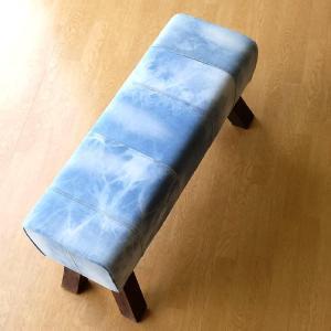 ベンチ デニム 木製 おしゃれ スツール 椅子 玄関 リビング インテリア アンティーク リサイクルデニムスツールBIG|gigiliving