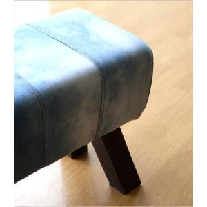 ベンチ デニム 木製 おしゃれ スツール 椅子 玄関 リビング インテリア アンティーク リサイクルデニムスツールBIG|gigiliving|05