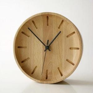 置き時計 置時計 壁掛け時計 掛け時計 掛時計 壁掛時計 木製 おしゃれ ナチュラル アナログ 天然木 シンプル インテリア ウッドウォールクロック プチサークル|gigiliving