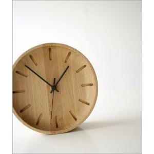 置き時計 置時計 壁掛け時計 掛け時計 掛時計 壁掛時計 木製 おしゃれ ナチュラル アナログ 天然木 シンプル インテリア ウッドウォールクロック プチサークル|gigiliving|02