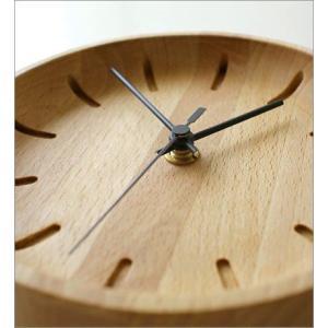 置き時計 置時計 壁掛け時計 掛け時計 掛時計 壁掛時計 木製 おしゃれ ナチュラル アナログ 天然木 シンプル インテリア ウッドウォールクロック プチサークル|gigiliving|03
