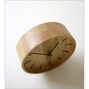 置き時計 置時計 壁掛け時計 掛け時計 掛時計 壁掛時計 木製 おしゃれ ナチュラル アナログ 天然木 シンプル インテリア ウッドウォールクロック プチサークル|gigiliving|04