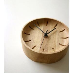 置き時計 置時計 壁掛け時計 掛け時計 掛時計 壁掛時計 木製 おしゃれ ナチュラル アナログ 天然木 シンプル インテリア ウッドウォールクロック プチサークル|gigiliving|06