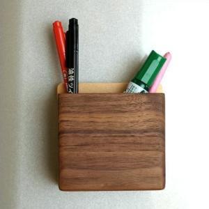 マグネット ペンスタンド ペン立て 壁掛け 壁付け 磁石 木製 おしゃれ マグネット・ペンポケット|gigiliving