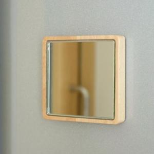 マグネット ウォールミラー 鏡 壁掛けミラー 壁付け 磁石 木製 おしゃれ 小さい コンパクトミラー マグネット・ミニミラー|gigiliving