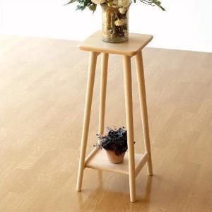 花台 フラワースタンド 木製 天然木 サイドテーブル コンパクト おしゃれ シンプル ナチュラルウッドの花台・ハイタイプ|gigiliving