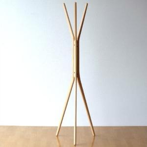 コートハンガー 木製 ナチュラル 北欧 コート掛け コートスタンド 天然木 ウッド おしゃれ シンプル モダン 玄関 スタイリッシュコートハンガー|gigiliving