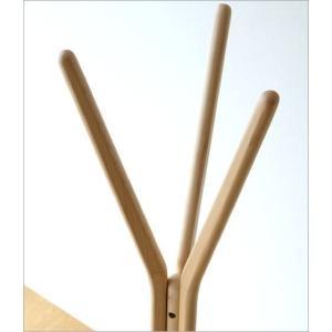 コートハンガー 木製 ナチュラル 北欧 コート掛け コートスタンド 天然木 ウッド おしゃれ シンプル モダン 玄関 スタイリッシュコートハンガー|gigiliving|03