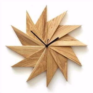 壁掛け時計 掛け時計 掛時計 壁掛時計 おしゃれ 木製 ウッドウォールクロック ウィンドウ オーク|gigiliving