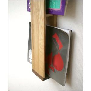 マガジンラック 木製 壁掛け おしゃれ スリム ナチュラルウッドのウォールマガジンラック|gigiliving|03