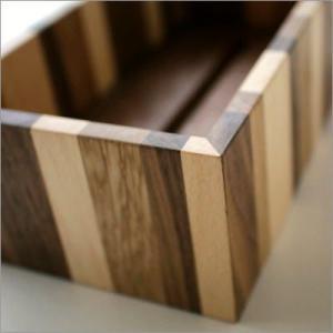 ティッシュケース 木製 おしゃれ ボックス シンプル ナチュラルウッドのモザイクティッシュボックス|gigiliving|03