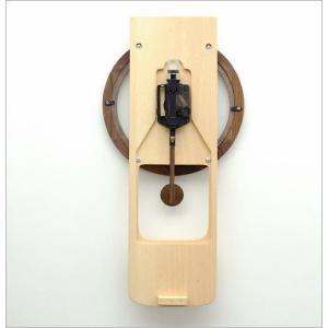 壁掛け時計 壁掛時計 掛け時計 掛時計 振り子 木製 おしゃれ 天然木 無垢 文字盤なし デザイン カフェ モダン ナチュラル ウォールクロック振り子 ビーチ|gigiliving|06