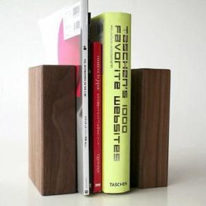 本立て 本立 ブックスタンド 木製 おしゃれ 天然木 インテリア ナチュラルウッドのブックエンド B|gigiliving