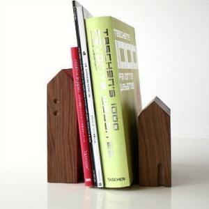 本立て 本立 ブックスタンド 木製 おしゃれ 天然木 インテリア ナチュラルウッドのブックエンド C|gigiliving