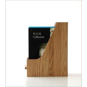 ファイルボックス A4 おしゃれ 木製 無垢材 ファイルラック タテ型 縦型 ファイル収納 卓上 机上 書類整理 ナチュラルウッドのファイルスタンド オーク|gigiliving|06