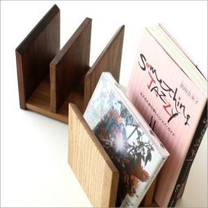 本立て 本立 ブックスタンド ファイルスタンド 木製 おしゃれ ナチュラルウッドのミニスタンド 2カラー|gigiliving