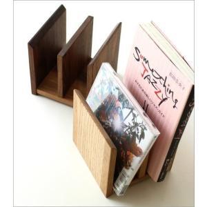 本立て 本立 ブックスタンド ファイルスタンド 木製 おしゃれ ナチュラルウッドのミニスタンド 2カラー|gigiliving|02