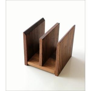 本立て 本立 ブックスタンド ファイルスタンド 木製 おしゃれ ナチュラルウッドのミニスタンド 2カラー|gigiliving|03