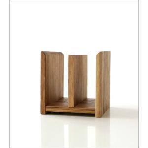 本立て 本立 ブックスタンド ファイルスタンド 木製 おしゃれ ナチュラルウッドのミニスタンド 2カラー|gigiliving|04