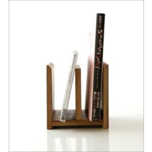 本立て 本立 ブックスタンド ファイルスタンド 木製 おしゃれ ナチュラルウッドのミニスタンド 2カラー|gigiliving|05