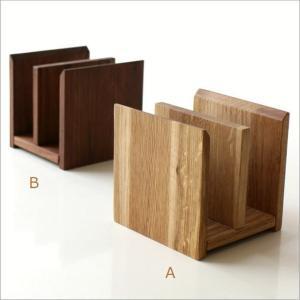 本立て 本立 ブックスタンド ファイルスタンド 木製 おしゃれ ナチュラルウッドのミニスタンド 2カラー|gigiliving|06