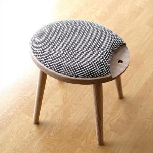 スツール 木製 おしゃれ オーク 天然木 無垢 椅子 いす イス チェア ナチュラル かわいい デザイン 生地 ファブリック 丸 楕円 連結 キャンディスツール|gigiliving