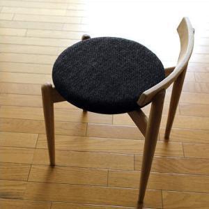 丸椅子 丸イス 木製 おしゃれ スタッキング スツール いす チェア 天然木 無垢材 布張り 背もたれ付き 北欧 ナチュラルウッドのラウンドスツール オーク|gigiliving