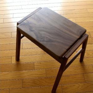 スツール 木製 椅子 いす イス スタッキング 無垢材 ナチュラルウッドのスクエアスツール ウォールナット|gigiliving