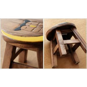スツール 木製 椅子 いす イス ミニスツール 玄関 花台 ミニテーブル ウッドチェア おしゃれ ふくろう 梟 子供椅子 みみずくさん|gigiliving|04