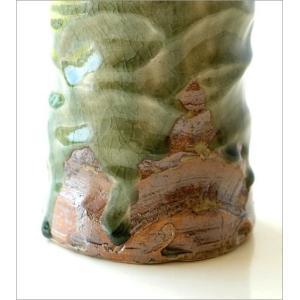 花器 陶器 おしゃれ 花瓶 花びん フラワーベース 和風 玄関 瀬戸焼 灰釉円柱花入れ|gigiliving|04