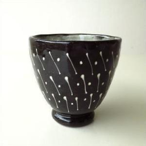 湯のみ おしゃれ 湯呑 湯呑み茶碗 瀬戸焼 和陶器湯のみ 点線一珍|gigiliving