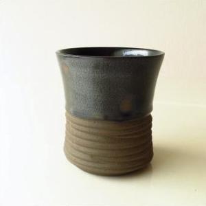 フリーカップ 陶器 湯呑み 湯のみ 焼酎グラス 瀬戸焼 和風 和陶器フリーカップ ドット|gigiliving