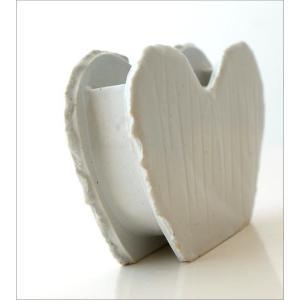 花瓶 花びん 陶器 花器 一輪挿し フラワーベース 花入れ 和雑貨 和小物 瀬戸焼 和陶器ベース ホワイトハート|gigiliving|05