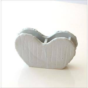 花瓶 花びん 陶器 花器 一輪挿し フラワーベース 花入れ 和雑貨 和小物 瀬戸焼 和陶器ベース ホワイトハート|gigiliving|06