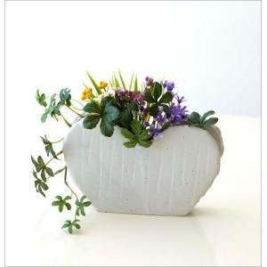 花瓶 花びん 陶器 花器 一輪挿し フラワーベース 花入れ 和雑貨 和小物 瀬戸焼 和陶器ベース ホワイトハート|gigiliving|07