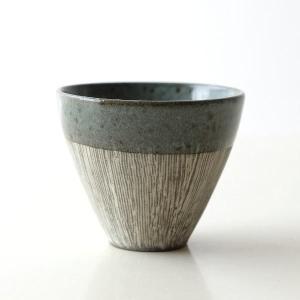 湯のみ 陶器 焼き物 瀬戸焼 おしゃれ 和食器 コップ 湯呑み 湯飲み 茶碗 日本製 かすみフリーカップ 2カラー|gigiliving
