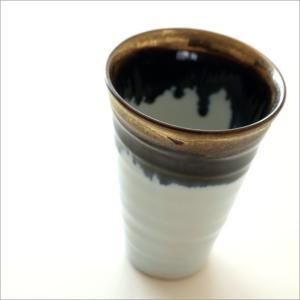 ビアカップ ビールカップ 陶器 有田焼 日本製 墨流し&ゴールドビアカップ|gigiliving|02
