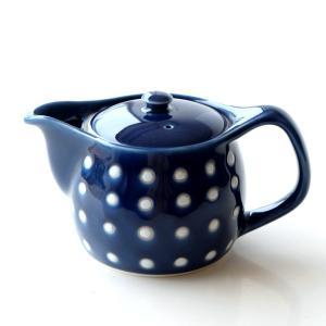 ティーポット おしゃれ 藍色 急須 きゅうす 磁器 シンプル かわいい モダン 和風 和モダン 和食器 有田焼 日本製 釉ドットポット|gigiliving