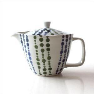 ティーポット 陶器 日本製 有田焼 白 おしゃれ 急須 きゅうす 二色しずくポット|gigiliving