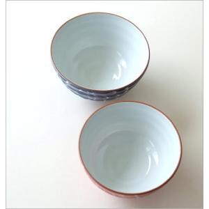 夫婦茶碗 おしゃれ 有田焼 大小 ペア セット かわいい お茶碗 夫婦 ご飯茶碗 陶器 日本製 一珍菊大・小茶碗セット gigiliving 03