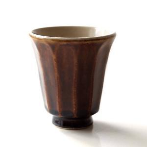 湯のみ茶碗 おしゃれ 有田焼 陶器 湯呑み 湯飲み 焼き物 日本製 アメ釉面取湯のみ|gigiliving