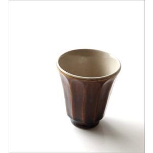 湯のみ茶碗 おしゃれ 有田焼 陶器 湯呑み 湯飲み 焼き物 日本製 アメ釉面取湯のみ|gigiliving|02