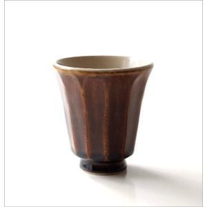 湯のみ茶碗 おしゃれ 有田焼 陶器 湯呑み 湯飲み 焼き物 日本製 アメ釉面取湯のみ|gigiliving|05