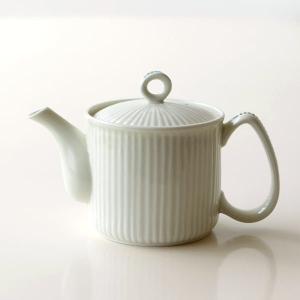 ティーポット おしゃれ 白 茶こし付き 磁器 有田焼 北欧 和食器 シンプル モダン かわいい 焼き物 モザイクしのぎポット|gigiliving