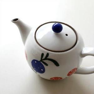 ティーポット 急須 きゅうす 陶器 おしゃれ 日本製 有田焼 粉引ポット 花の実|gigiliving