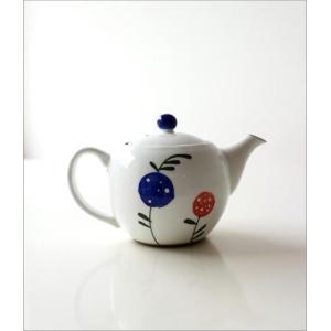 ティーポット 急須 きゅうす 陶器 おしゃれ 日本製 有田焼 粉引ポット 花の実|gigiliving|05