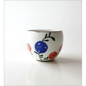 湯呑み 湯飲み 湯のみ茶碗 おしゃれ 有田焼 粉引丸煎茶 花の実|gigiliving|05