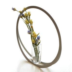 フラワーベース 花瓶 花びん おしゃれ モダン ガラス 花器 シンプル モダン スタイリッシュ 玄関 インテリア アルミとガラスのベース UT|gigiliving