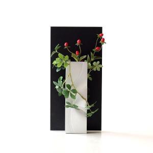 花瓶 花びん フラワーベース ガラス 一輪挿し おしゃれ モダン シンプル 花器 玄関 インテリア アルミとガラスのウッドフレームベース|gigiliving