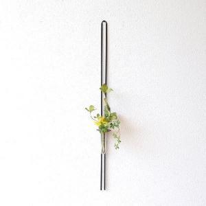 花瓶 花びん 壁掛け 一輪挿し ガラス アイアン 花器 フラワーベース おしゃれ モダン スタイリッシュ アイアン掛花ストレート|gigiliving